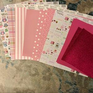 3/$15! Pink Scrapbook Paper Lot